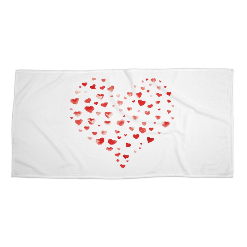 I Heart You Accessories Beach Towel by tanjica's Artist Shop