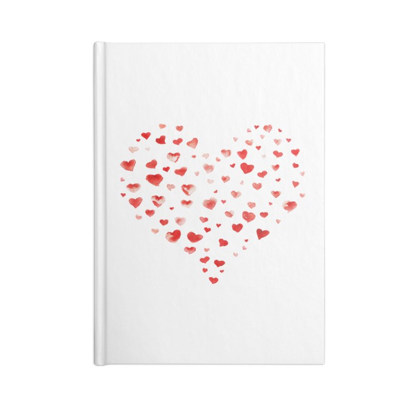 I Heart You Accessories Lined Journal Notebook by tanjica's Artist Shop