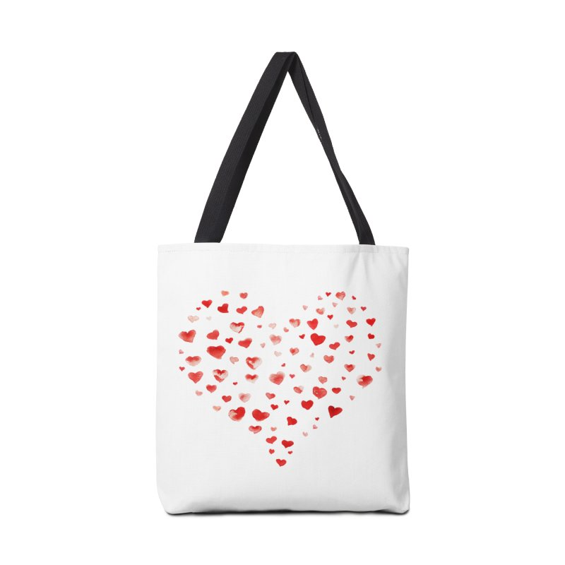 I Heart You Accessories Bag by tanjica's Artist Shop
