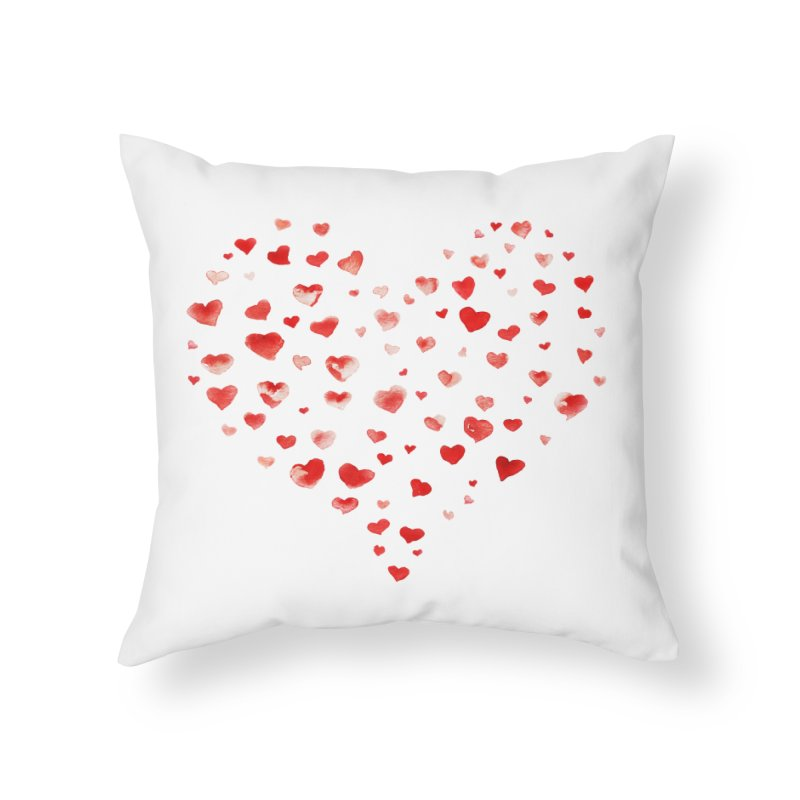 I Heart You Home Throw Pillow by tanjica's Artist Shop
