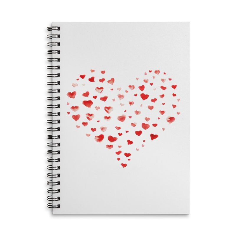 I Heart You Accessories Lined Spiral Notebook by tanjica's Artist Shop