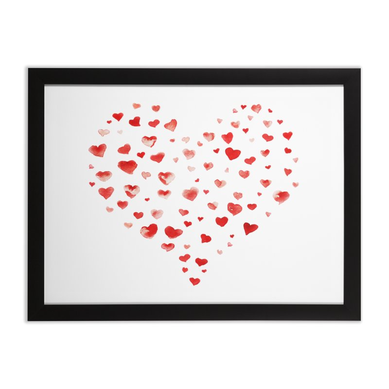 I Heart You Home Framed Fine Art Print by tanjica's Artist Shop