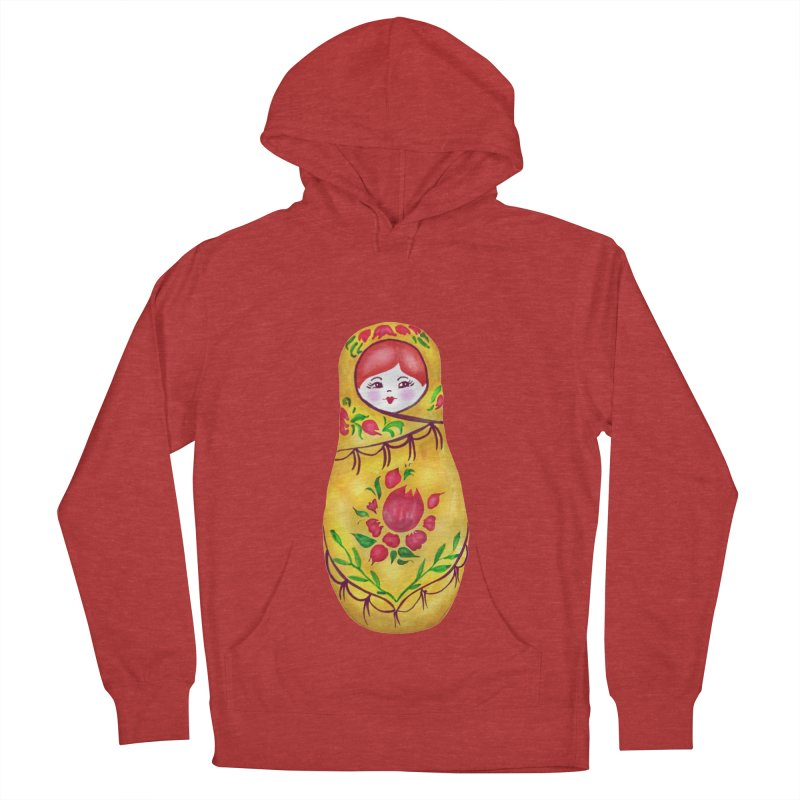 Russian Matryoshka Nesting Doll Women's French Terry Pullover Hoody by tanjica's Artist Shop