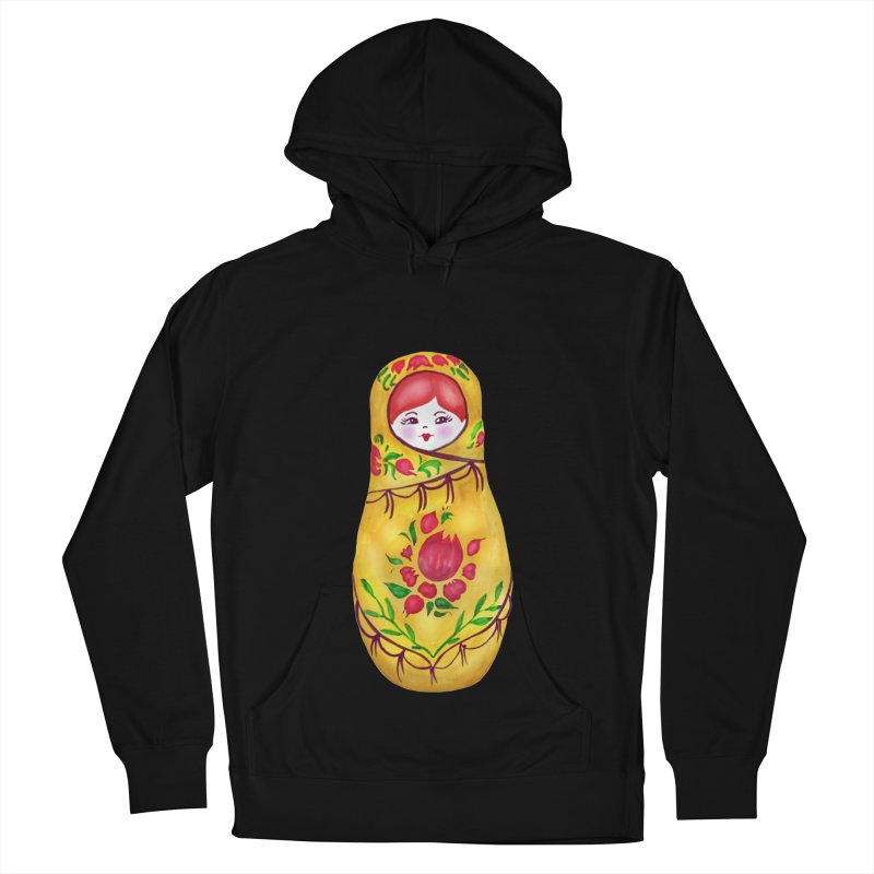 Russian Matryoshka Nesting Doll Men's French Terry Pullover Hoody by tanjica's Artist Shop