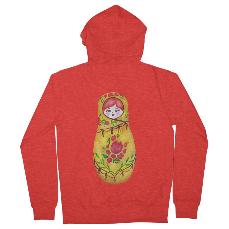 Russian Matryoshka Nesting Doll Women's Zip-Up Hoody by tanjica's Artist Shop