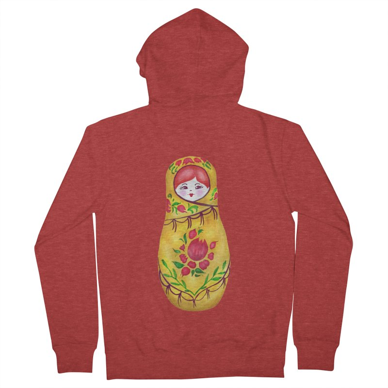 Russian Matryoshka Nesting Doll Women's French Terry Zip-Up Hoody by tanjica's Artist Shop