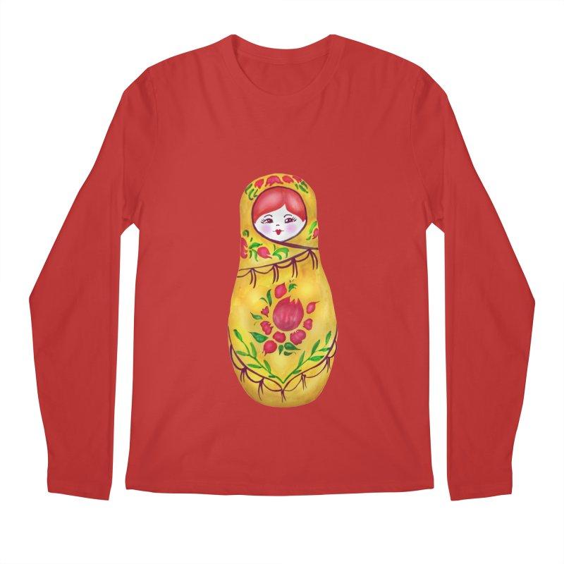 Russian Matryoshka Nesting Doll Men's Regular Longsleeve T-Shirt by tanjica's Artist Shop