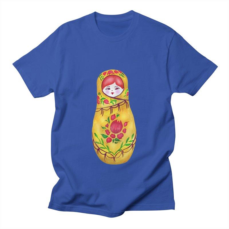 Russian Matryoshka Nesting Doll Men's T-Shirt by tanjica's Artist Shop