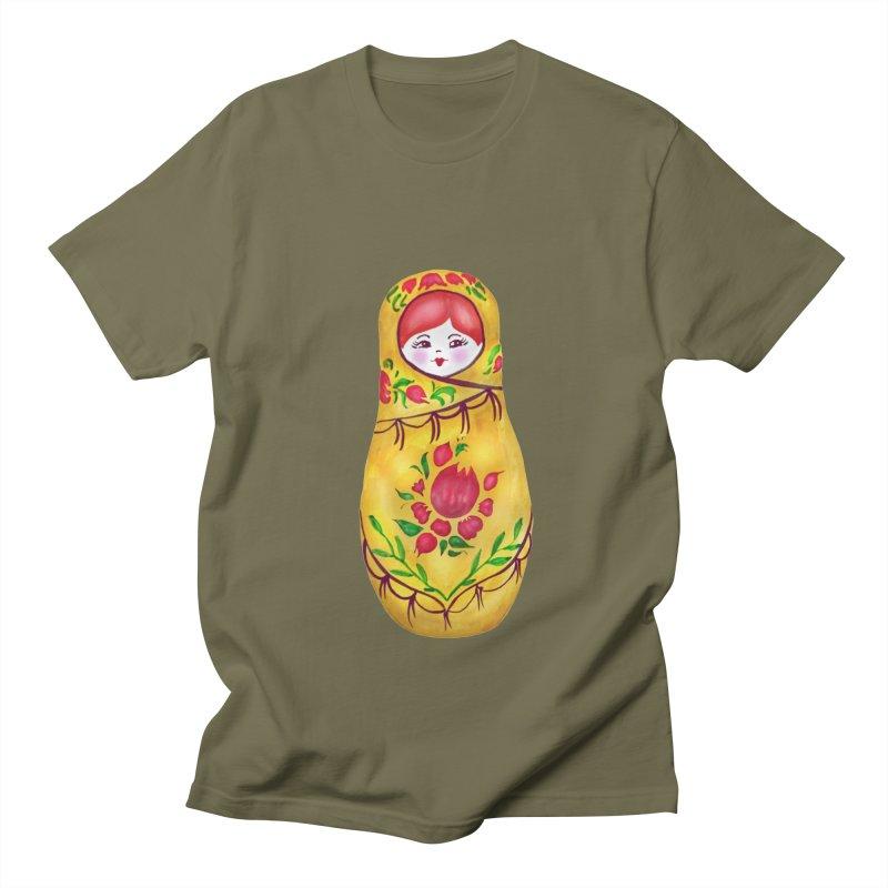 Russian Matryoshka Nesting Doll Women's Regular Unisex T-Shirt by tanjica's Artist Shop