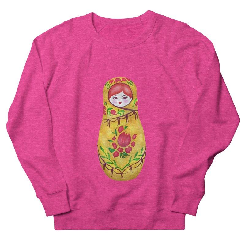 Russian Matryoshka Nesting Doll Men's French Terry Sweatshirt by tanjica's Artist Shop