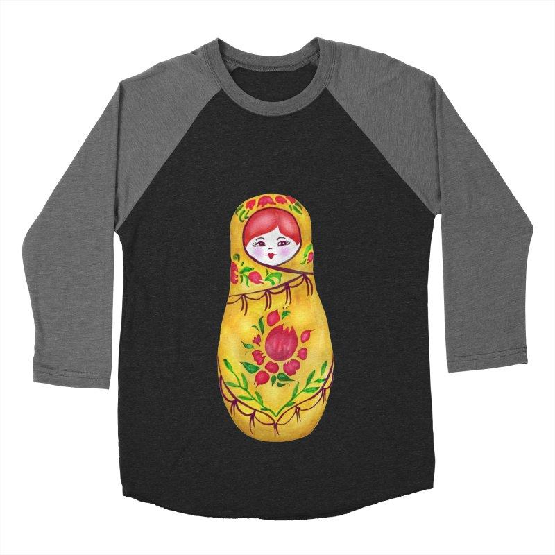 Russian Matryoshka Nesting Doll Women's Baseball Triblend T-Shirt by tanjica's Artist Shop