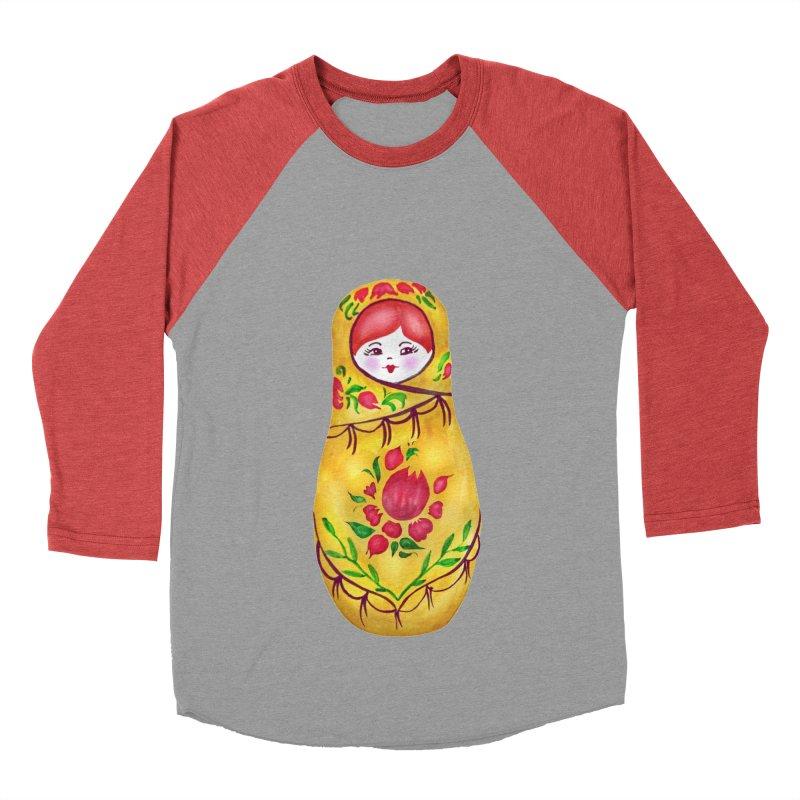 Russian Matryoshka Nesting Doll Men's Baseball Triblend T-Shirt by tanjica's Artist Shop