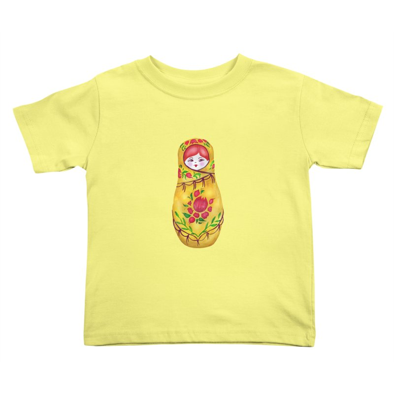 Russian Matryoshka Nesting Doll Kids Toddler T-Shirt by tanjica's Artist Shop