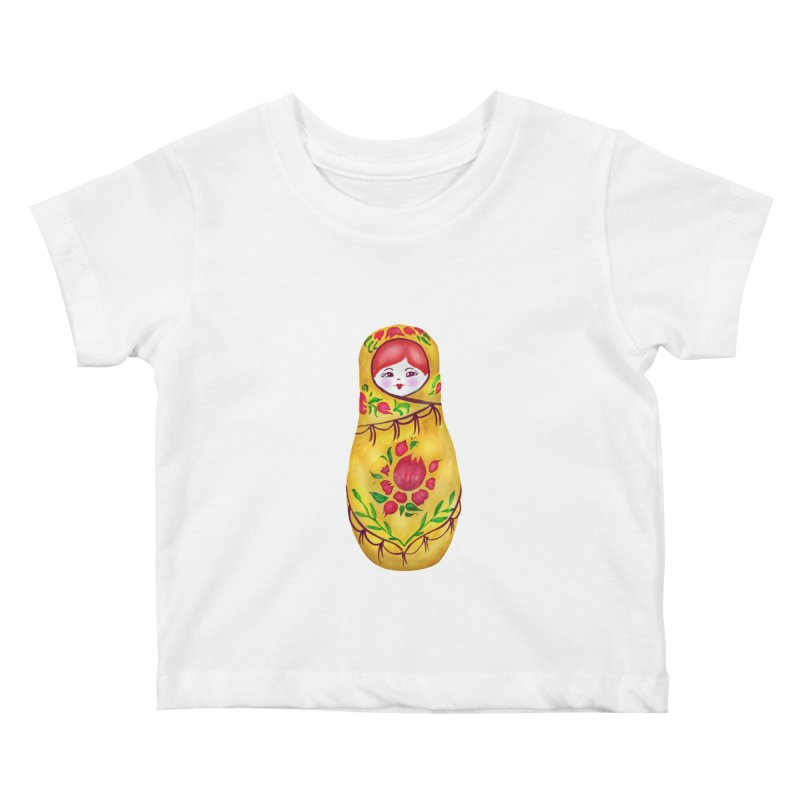 Russian Matryoshka Nesting Doll Kids Baby T-Shirt by tanjica's Artist Shop