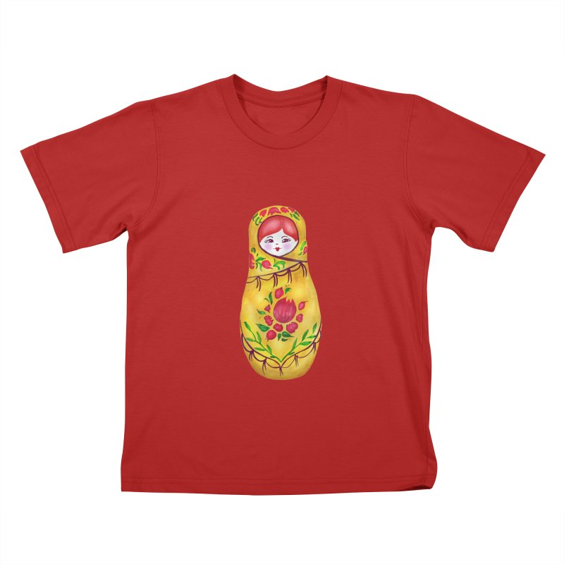 Russian Matryoshka Nesting Doll Kids T-shirt by tanjica's Artist Shop