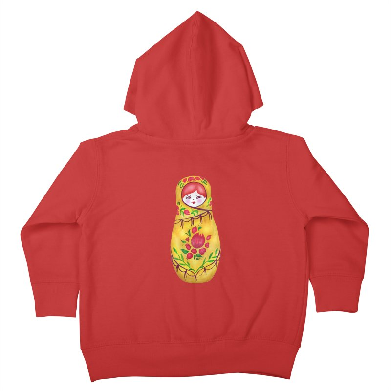 Russian Matryoshka Nesting Doll Kids Toddler Zip-Up Hoody by tanjica's Artist Shop