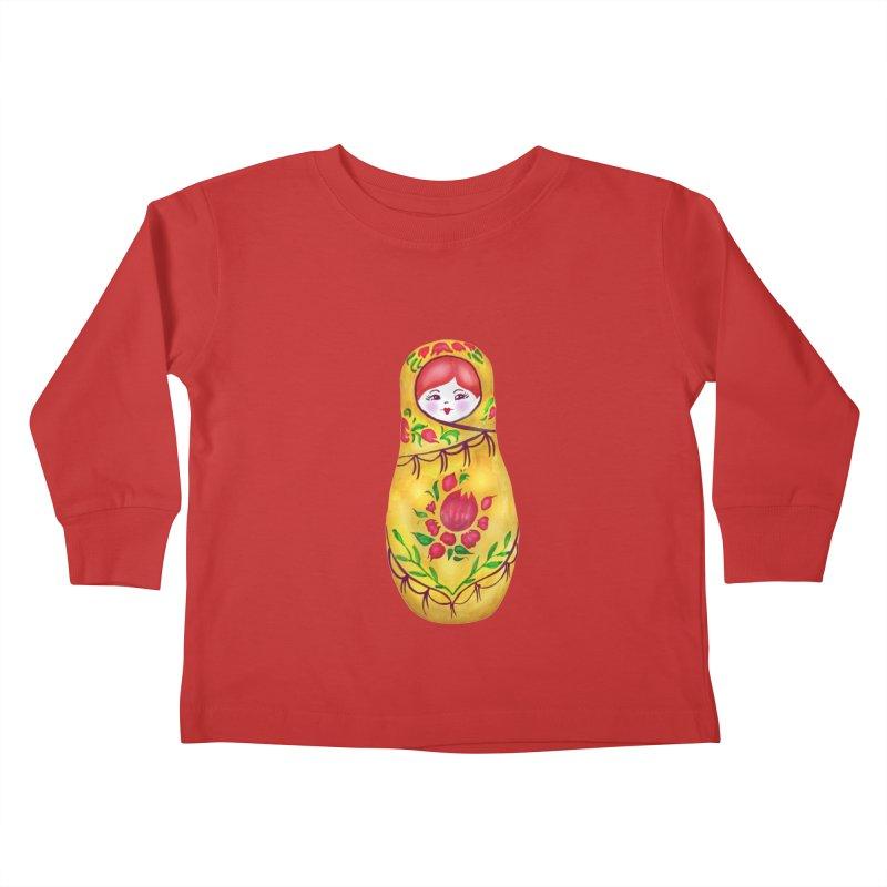 Russian Matryoshka Nesting Doll Kids Toddler Longsleeve T-Shirt by tanjica's Artist Shop