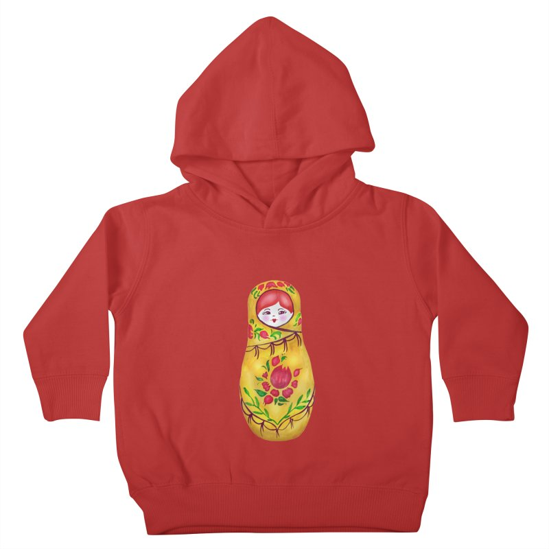 Russian Matryoshka Nesting Doll Kids Toddler Pullover Hoody by tanjica's Artist Shop