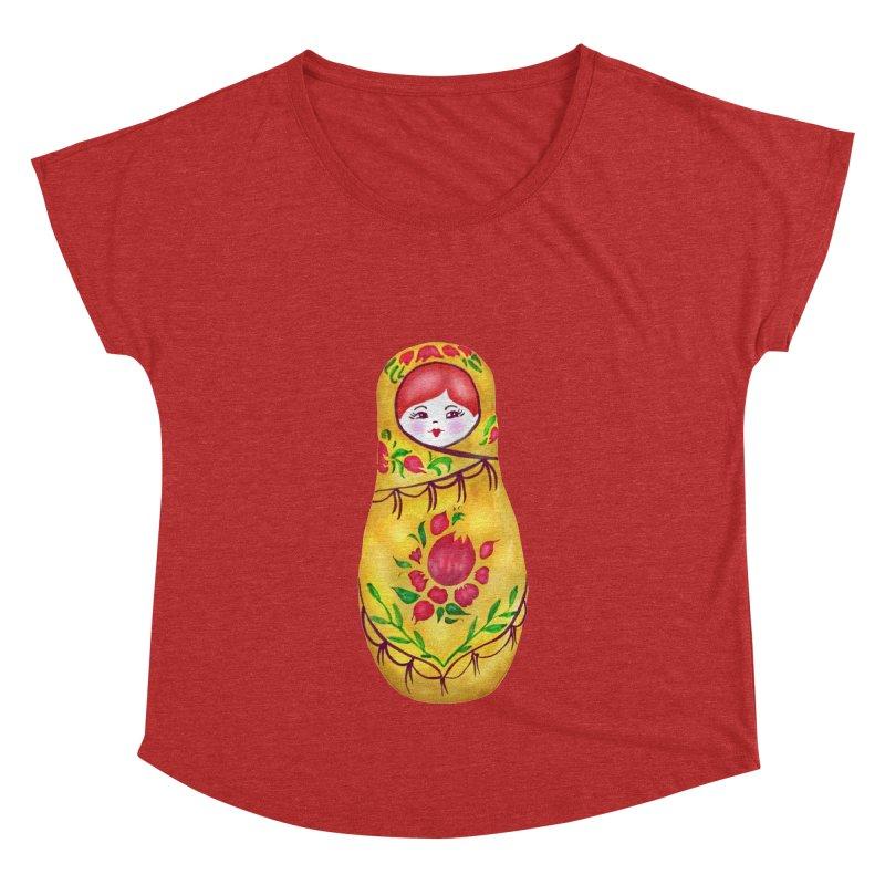 Russian Matryoshka Nesting Doll Women's Dolman by tanjica's Artist Shop