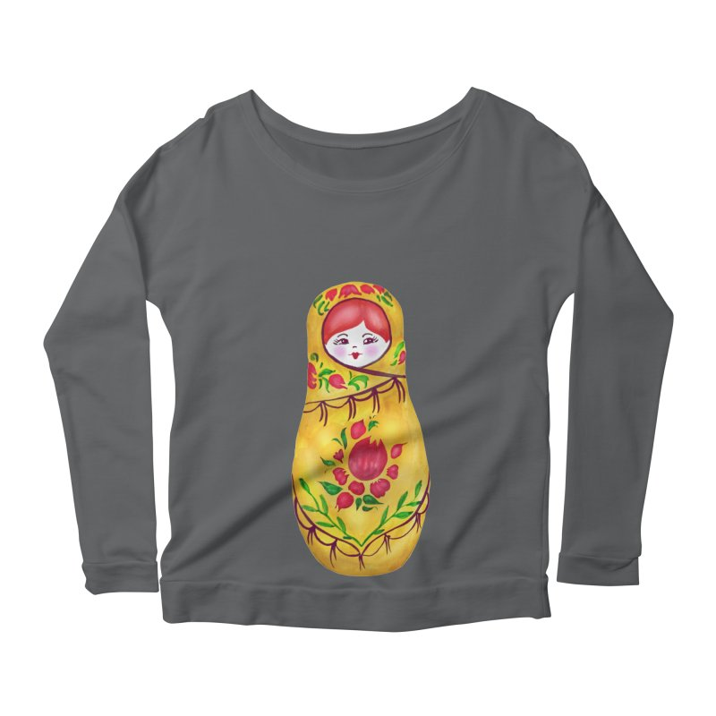 Russian Matryoshka Nesting Doll Women's Longsleeve T-Shirt by tanjica's Artist Shop