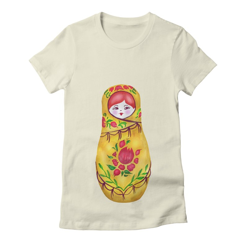 Russian Matryoshka Nesting Doll Women's Fitted T-Shirt by tanjica's Artist Shop