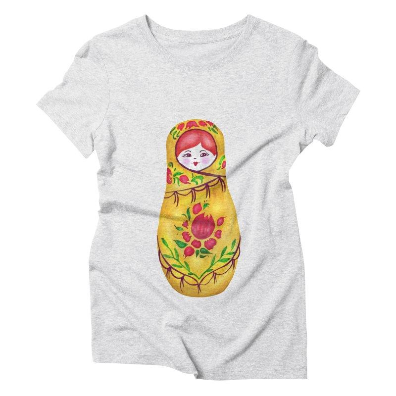 Russian Matryoshka Nesting Doll Women's T-Shirt by tanjica's Artist Shop