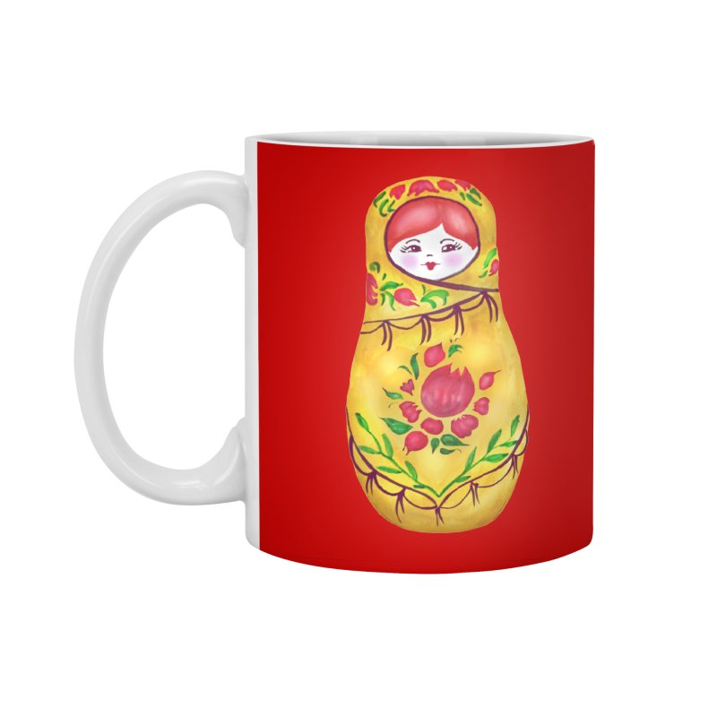 Russian Matryoshka Nesting Doll Accessories Mug by tanjica's Artist Shop