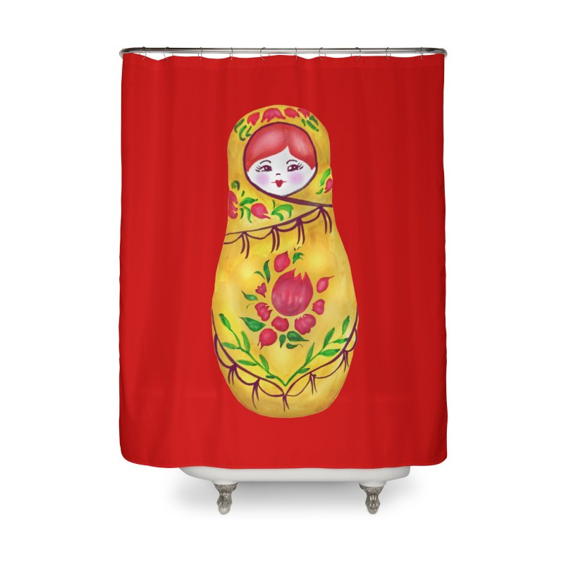 Russian Matryoshka Nesting Doll Home Shower Curtain by tanjica's Artist Shop