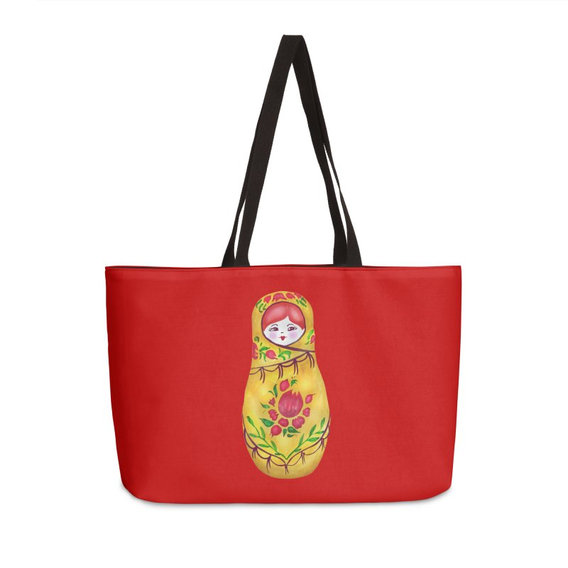 Russian Matryoshka Nesting Doll Accessories Weekender Bag Bag by tanjica's Artist Shop