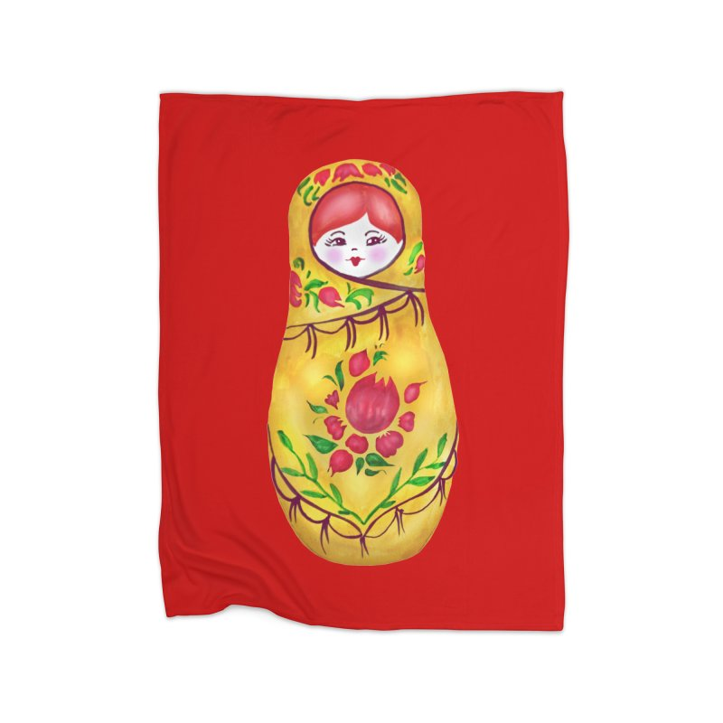 Russian Matryoshka Nesting Doll Home Blanket by tanjica's Artist Shop