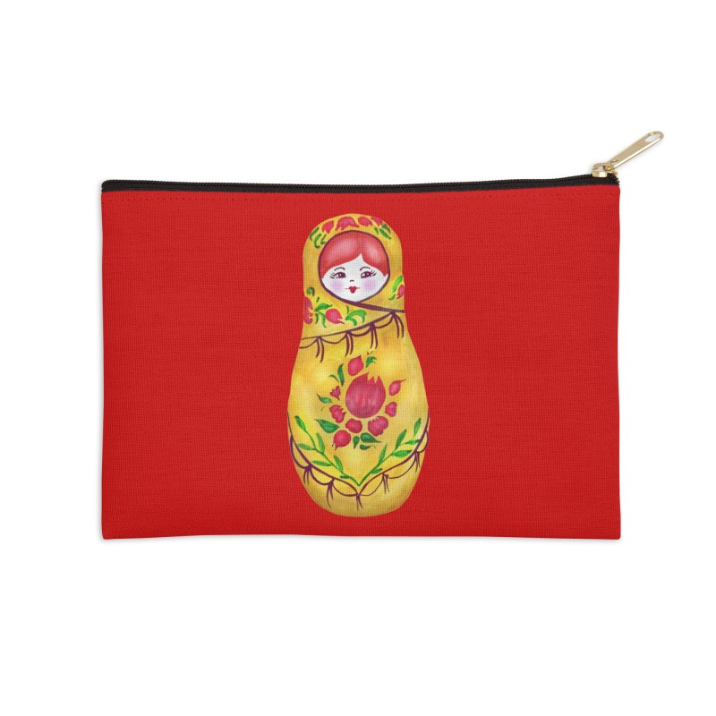 Russian Matryoshka Nesting Doll Accessories Zip Pouch by tanjica's Artist Shop