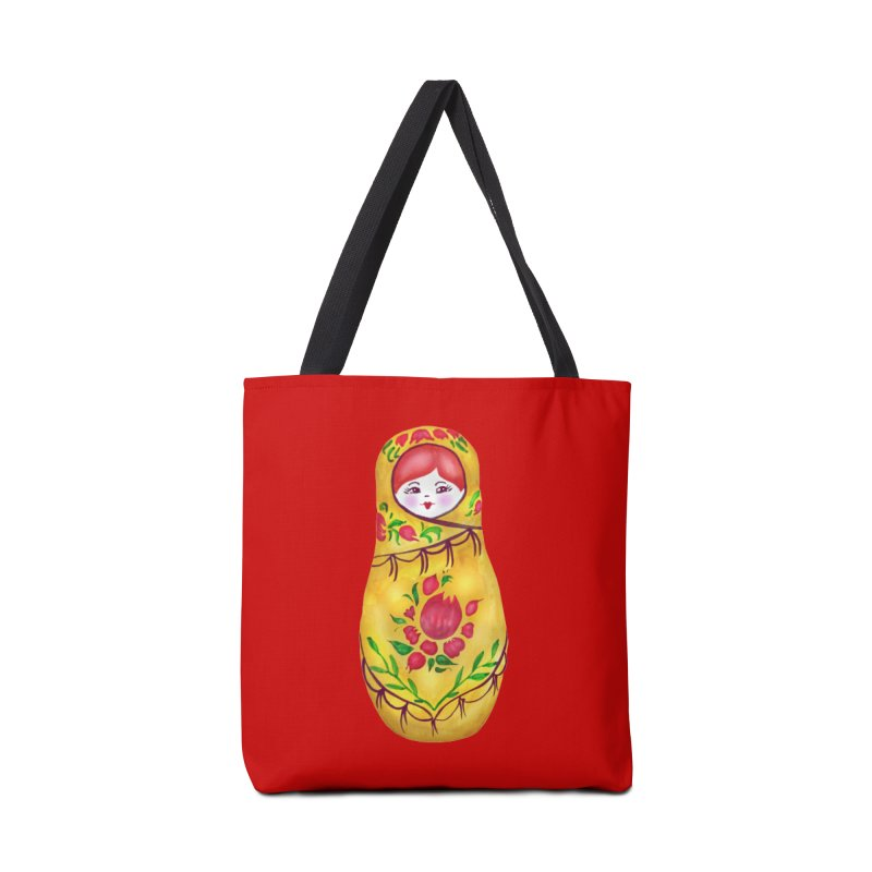 Russian Matryoshka Nesting Doll Accessories Bag by tanjica's Artist Shop