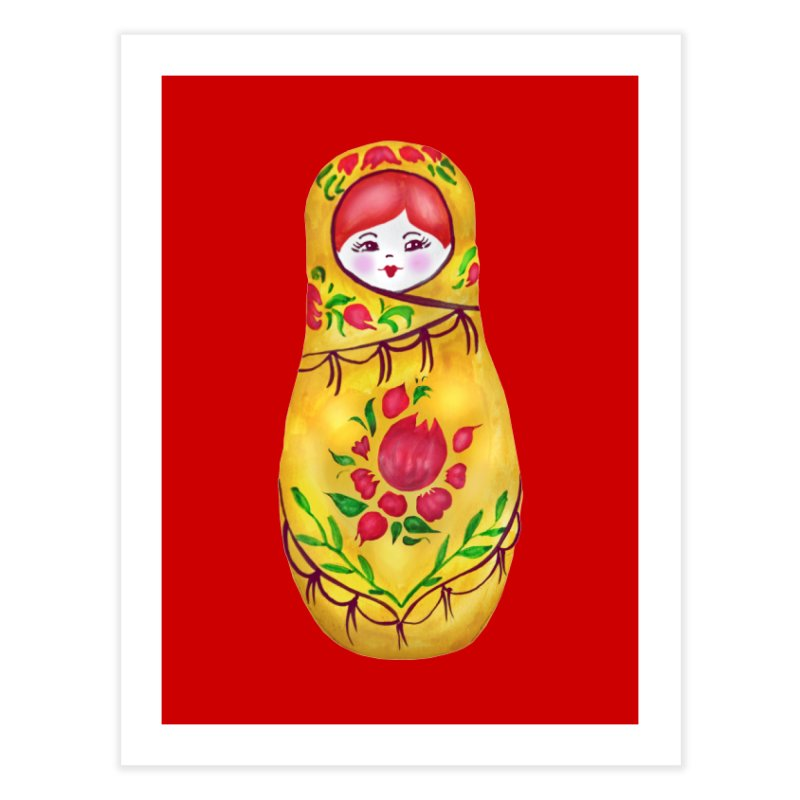 Russian Matryoshka Nesting Doll Home Fine Art Print by tanjica's Artist Shop