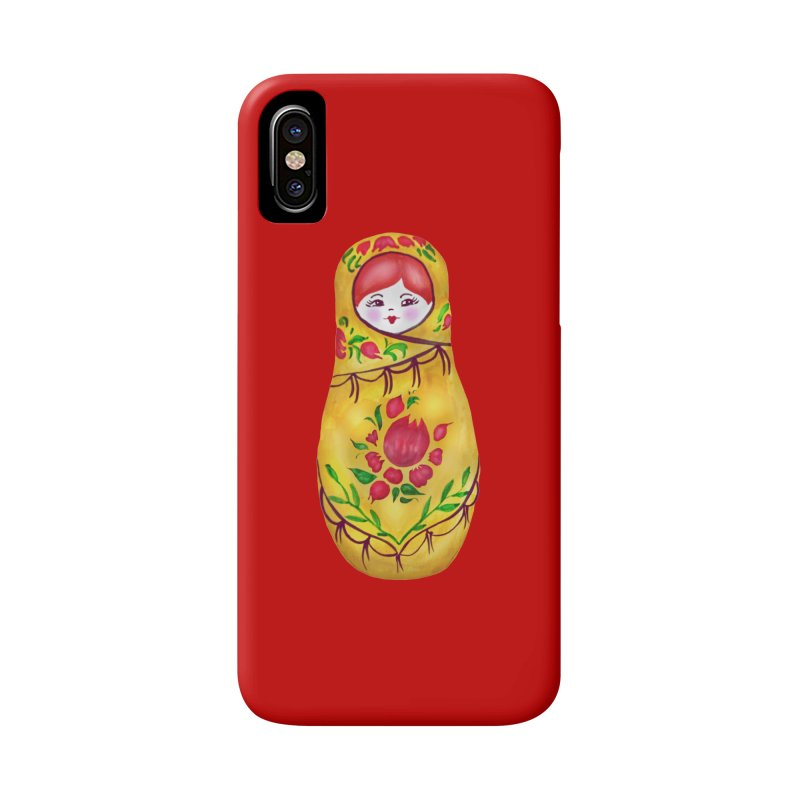 Russian Matryoshka Nesting Doll Accessories Phone Case by tanjica's Artist Shop