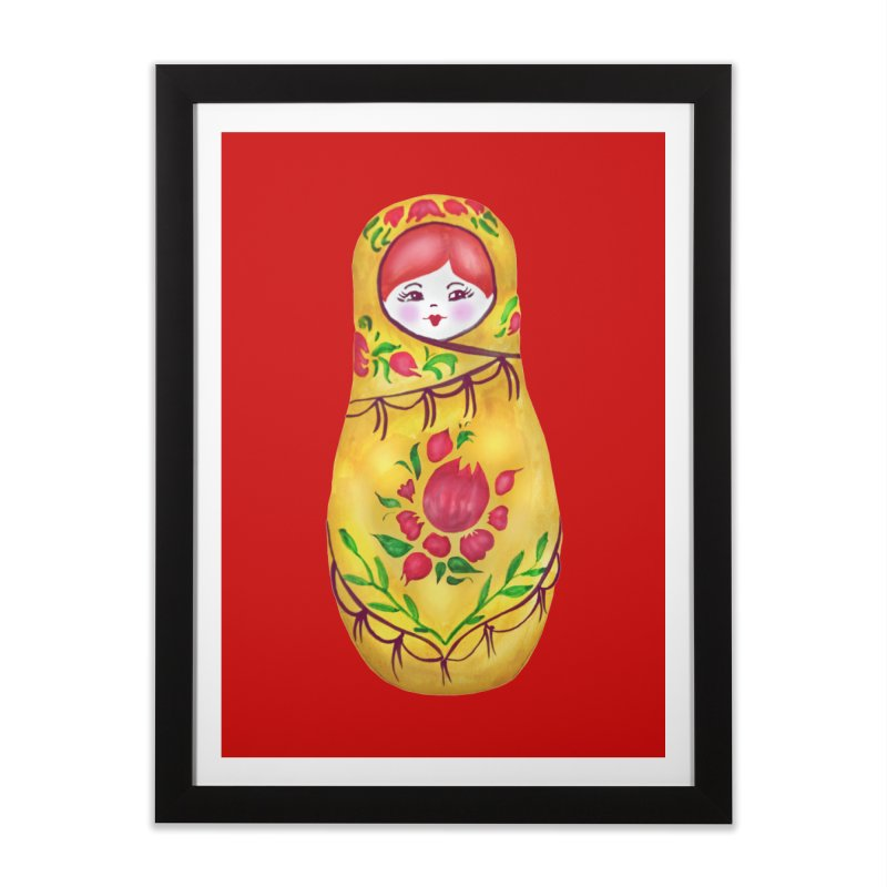 Russian Matryoshka Nesting Doll Home Framed Fine Art Print by tanjica's Artist Shop