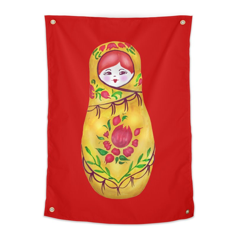 Russian Matryoshka Nesting Doll Home Tapestry by tanjica's Artist Shop