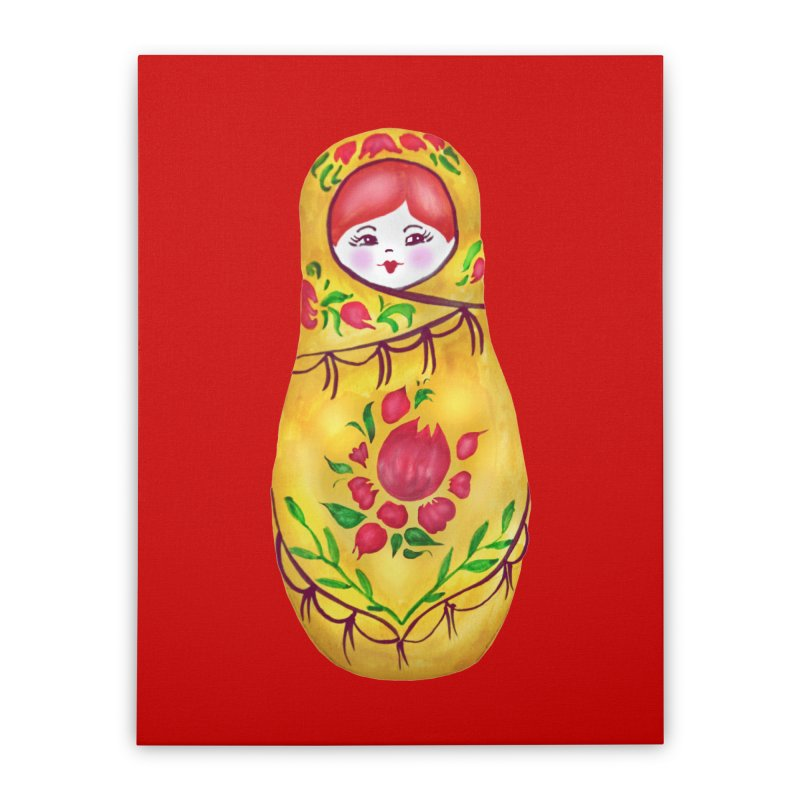Russian Matryoshka Nesting Doll Home Stretched Canvas by tanjica's Artist Shop