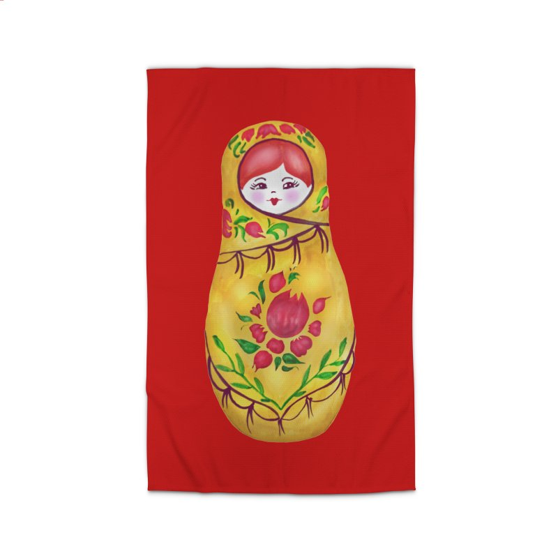 Russian Matryoshka Nesting Doll Home Rug by tanjica's Artist Shop
