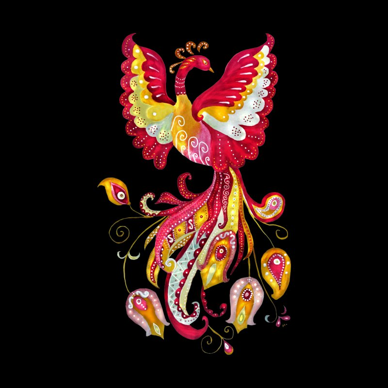 Firebird - Mythical Creature Men's V-Neck by tanjica's Artist Shop