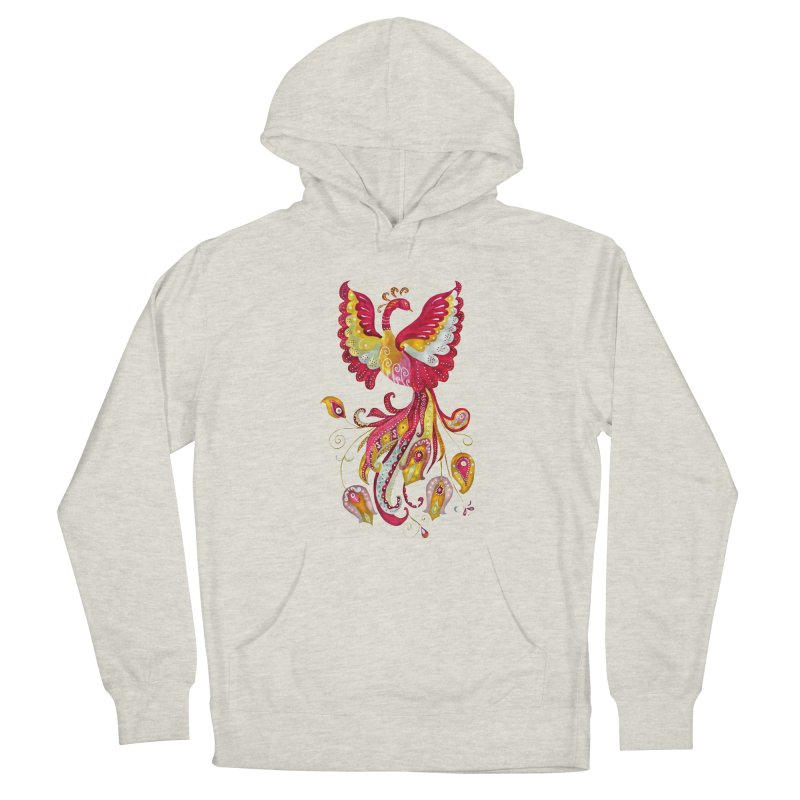Firebird - Mythical Creature Men's French Terry Pullover Hoody by tanjica's Artist Shop