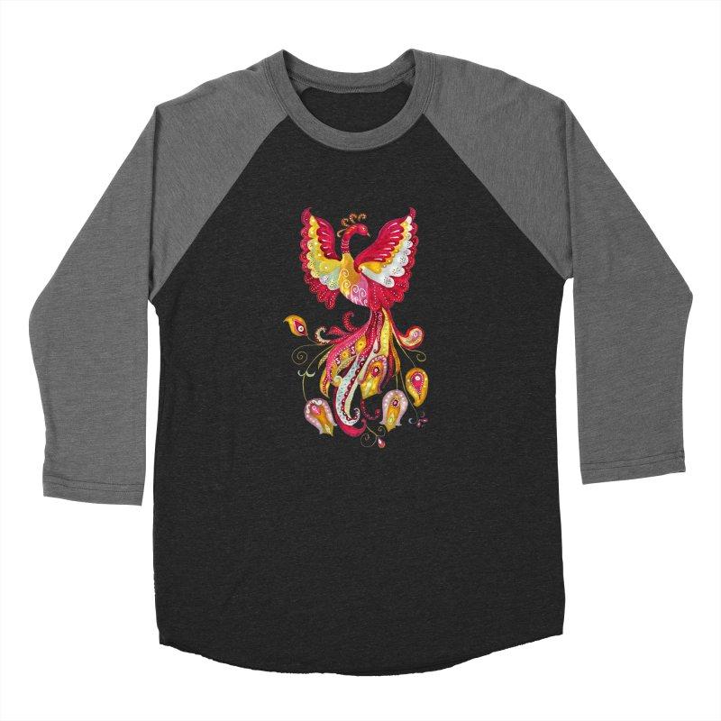 Firebird - Mythical Creature Men's Baseball Triblend Longsleeve T-Shirt by tanjica's Artist Shop