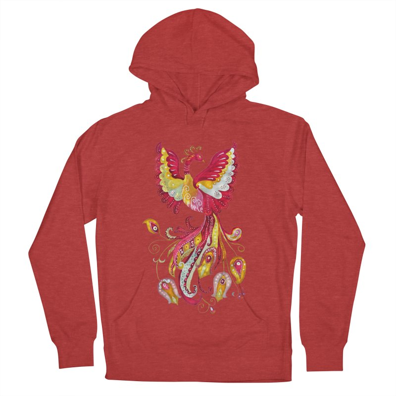 Firebird - Mythical Creature Women's French Terry Pullover Hoody by tanjica's Artist Shop
