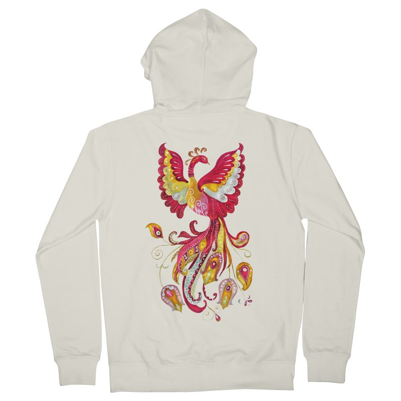 Firebird - Mythical Creature Women's French Terry Zip-Up Hoody by tanjica's Artist Shop