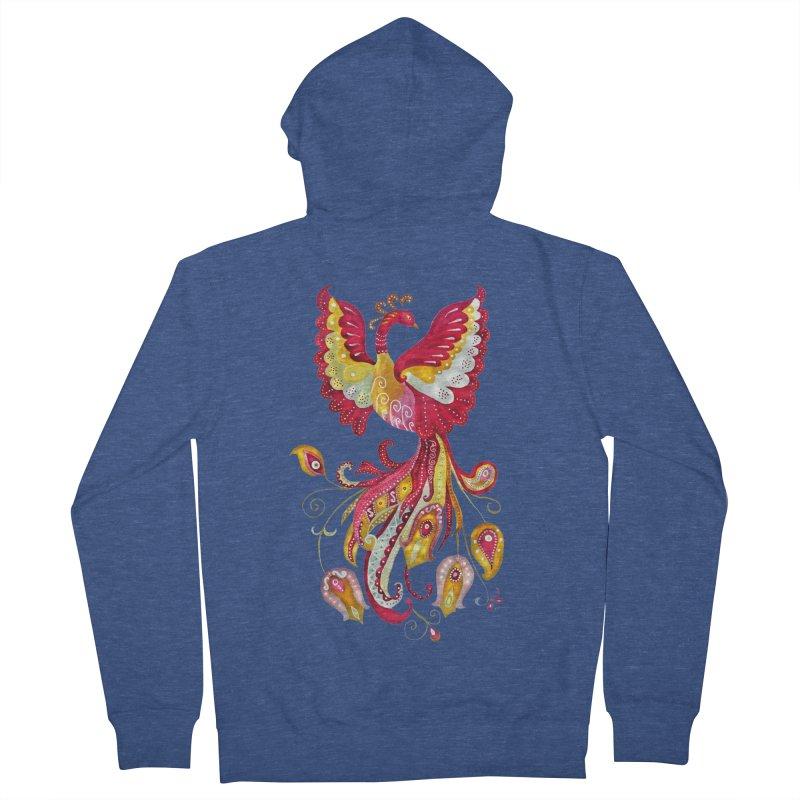 Firebird - Mythical Creature Men's Zip-Up Hoody by tanjica's Artist Shop