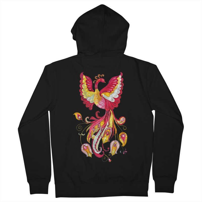 Firebird - Mythical Creature Men's Zip-Up Hoody by tanjica's Artist Shop