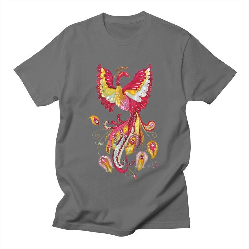 Firebird - Mythical Creature Men's T-Shirt by tanjica's Artist Shop