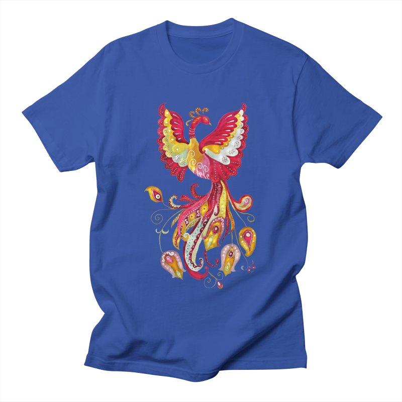 Firebird - Mythical Creature Men's Regular T-Shirt by tanjica's Artist Shop