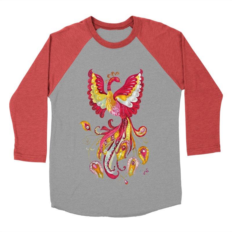 Firebird - Mythical Creature Women's Baseball Triblend Longsleeve T-Shirt by tanjica's Artist Shop