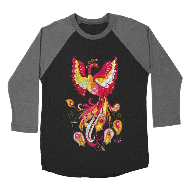 Firebird - Mythical Creature Women's Baseball Triblend T-Shirt by tanjica's Artist Shop