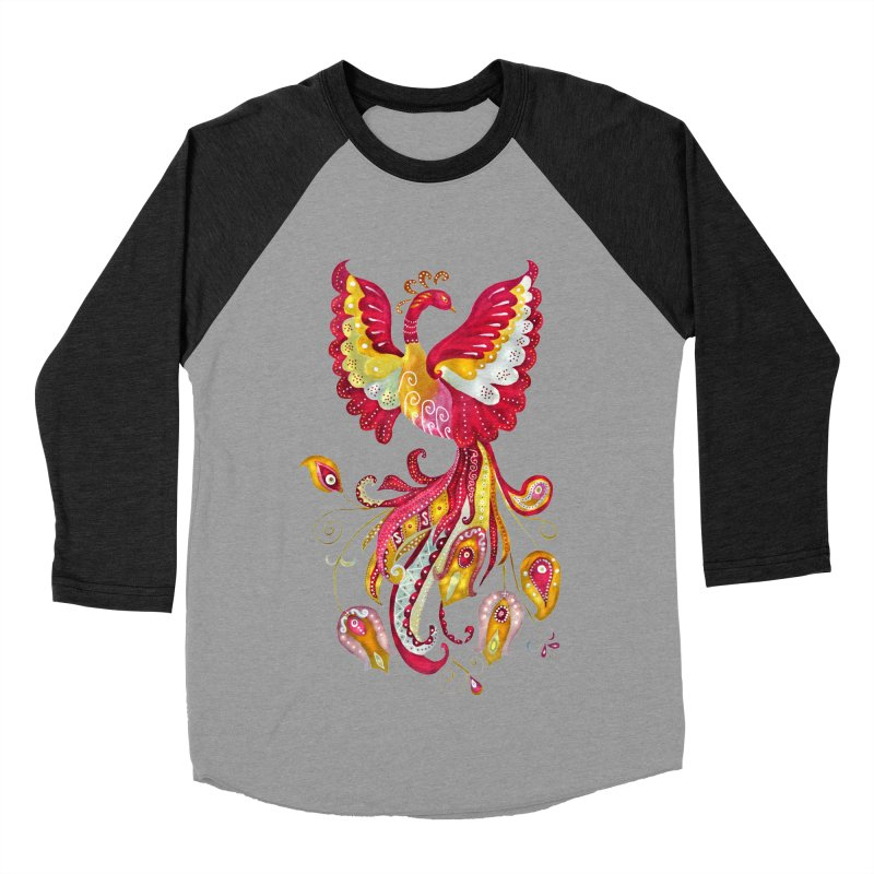 Firebird - Mythical Creature Men's Baseball Triblend Longsleeve T-Shirt by tanjica's Artist Shop